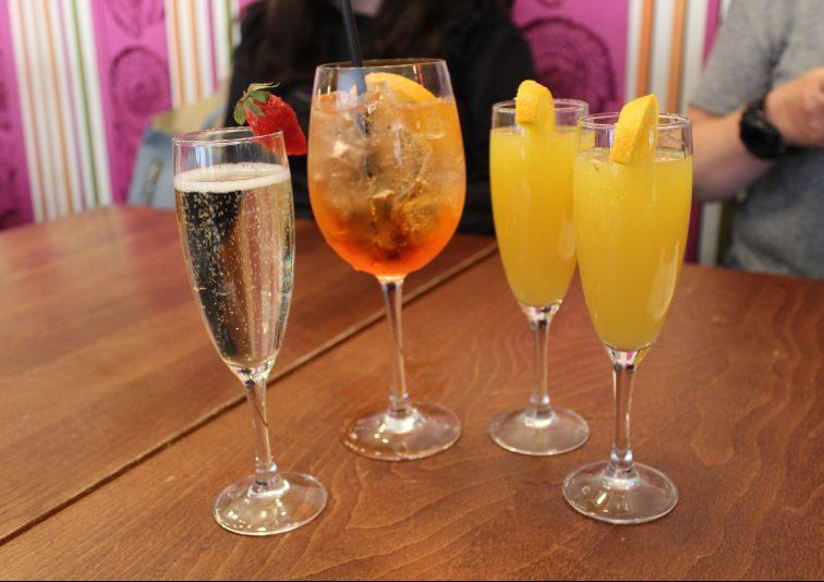 Prosecco, Aperol Spritz and Mimosas