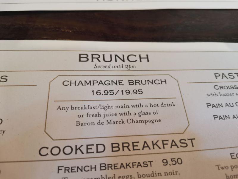 champagne brunch prices